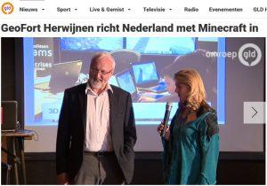 Minecraft-professor Henk Scholten bij Omroep Gelderland