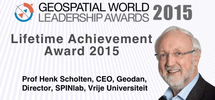 Prof. Henk Scholten (FEWEB) recognized as Geospatial World Leader